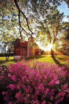 Beautiful scene with the barn!  #barn