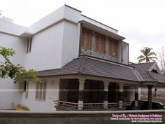 Indian Home Design Photos Exterior Two Story House Plans Small Contemporary House Plans, Modern House Floor Plans, Simple House Plans, Simple House Exterior Design, House Arch Design, Small House Design, Two Story House Plans, New House Plans, Indian House Plans