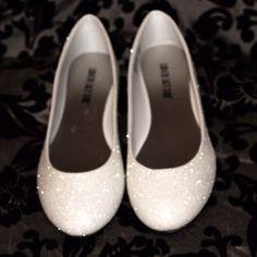 Chaussures de mariée blanc paillettes par AshleyBrooksDesigns
