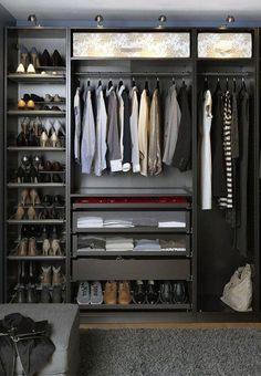 Top 100 Best Closet Designs For Men - Part Two Ikea Closet, Closet Storage, Closet Organization, Makeup Organization, Best Wardrobe Designs, Closet Designs, Luxury Wardrobe, Wardrobe Design Bedroom, Walldrobe Design