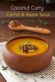 The Café Sucré Farine: Coconut Curry Carrot & Apple Soup w/ Bacon, Granny Smith Apple & Cashew Topping