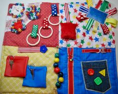 Colorful Bursts Fidget Quilt for Dementia by TotallySewn on Etsy