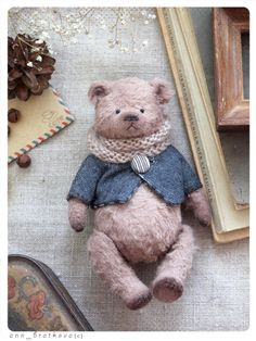 Wenty Tiny bear By Anna Bratkova - Bear PileOurs en peluche petit 13 inchItems similar to Tiny teddy bear 13 cm/ inch on Etsy Teddy Bears For Sale, Cute Teddy Bears, Crochet Teddy, Crochet Bear, Crochet Dolls, Tedy Bear, Tiny Teddies, Teddy Toys, Sock Toys