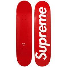 Supreme Logo Skateboards | Hypebeast ❤ liked on Polyvore