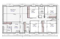 """Résultat de recherche d'images pour """"plan maison plain pied 4 chambres 100m2"""""""