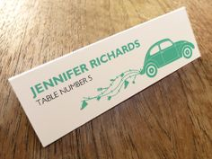 Printable Wedding Place Card - Beetle