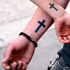 love the boldness of these crosses - would love on my back/neck