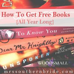 How To Get #Free Books All Year Long