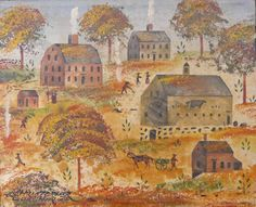 New England with Christopher Gurshin Grandma Moses, Primitive Painting, Country Shop, Vintage Fall, Naive Art, World Cultures, New England, Wall Murals, Folk Art