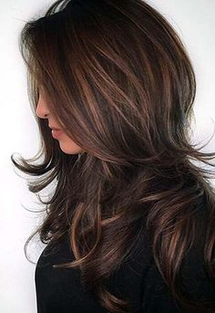 Hair Color Ideas in Brown to Caramel Tones