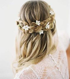 Wedding Hair Down 28 Braided Wedding Hairstyles For Brides with Long Hair Half Up Wedding Hair, Wedding Hairstyles Half Up Half Down, Wedding Braids, Long Hair Wedding Styles, Long Hair Styles, Trendy Wedding, Wedding Hairstyles For Long Hair, Bride Hairstyles, Down Hairstyles
