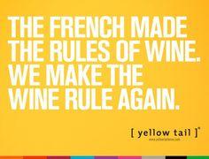 [Yellow Tail] wine advertisement