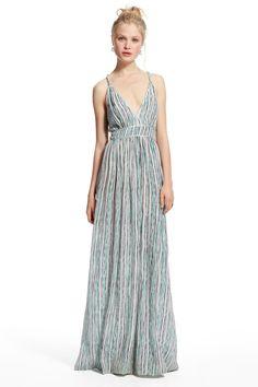 Benta Multi Stripe Silk Dress
