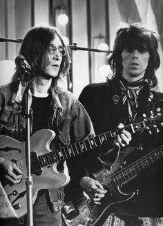 John Lennon and Keith Richards