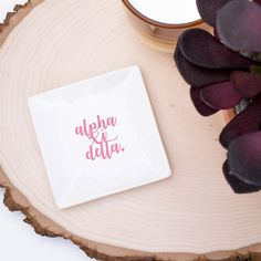 Set of 3 Alpha Epsilon Phi Trays perfect for jewelry, hair pins, loose change and sorority pin. Simple white ceramic dishes pop with your choice of color! Alpha Epsilon Phi, Alpha Xi Delta, Alpha Chi Omega, Sigma Kappa, Phi Mu, Gamma Phi, Delta Zeta, Jewelry Tray, Jewelry Dish