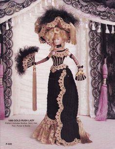 1889-Goldrausch Lady Vol 24 Paradies Publikationen Mode Puppe