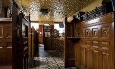 McConville's Pub, Portadown, Co.Armagh. Beautiful ornate floor tile & ceiling.