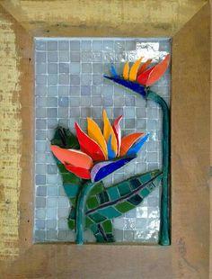 Mosaic Flowers, Mosaic Patterns, Pebble Art, Mosaic Art, Pottery Art, Stained Glass, Collage, Bird, Wall Art