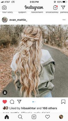Hairstyle Ideas, Cute Hairstyles, Hair Ideas, Hidden Crown Hair Extensions, Makeup Tattoos, Braids For Long Hair, Curly Girl, Senior Pics, How To Feel Beautiful