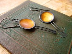 Gold Bowl Earrings by celiefago on Etsy, $250.00