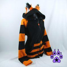 Pawstar - Stripey Fox Hoodie |*[ Pawstar Apparel ]