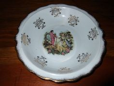 Vintage Courting Bowl Attributed To Royal Vienna