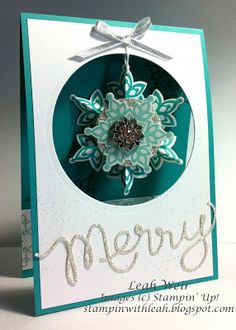 Stampin' With Leah: Festive Flurry Christmas Card.