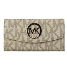 You Never Met The Famous Michael Kors Logo Signature Large Apricot Wallets Like That In Here! #MichaelKorsBags