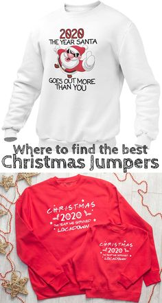 2020 The Year Santa Goes Out More Than You Christmas Jumper. The year we survived Lockdown. Locdown Christmas Jumpers. Where to find this years best Christmas Jumpers for all the Family. The best Christmas Jumpers of 2020. The Christmas sweater, once a TACKY gift you gave Dad in the 80's to force him to be grumpy all day while wearing Santa on his chest, is now a cool (ish) way to dress for Christmas. #christmas #christmasjumper #christmassweater Funny Christmas Jumper, Best Christmas Sweaters, Christmas Christmas, Winter Horse, Winter Fashion Outfits, Friend Wedding, Valentine Gifts, Going Out