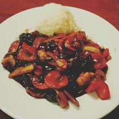 Shiitakepilze beim Chinesen.