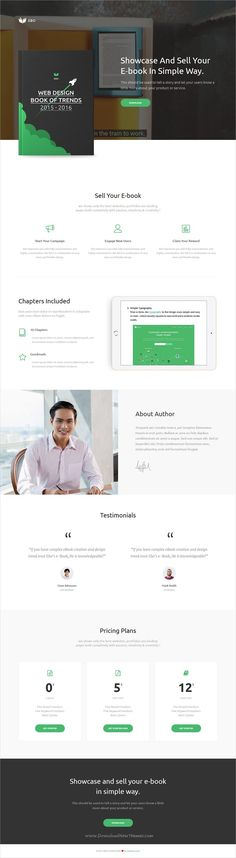 Ebo is clean and modern design 4in1 responsive #HTML template for #eBook marketing #landingpage website download now..