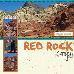 Red Rock Canyon - Digital Scrapbook Page