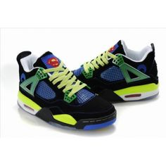 uk availability 91056 28c4a Air Jordan 4 Doernbecher Black Old Royal Electric Green White 308497 015  For Sale, cheap Jordan If you want to look Air Jordan 4 Doernbecher Black  Old Royal ...
