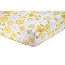 "nojo - bright blossom crib sheet - crown craft - babies ""r"" us"