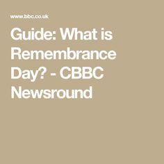 Guide: What is Remembrance Day? - CBBC Newsround