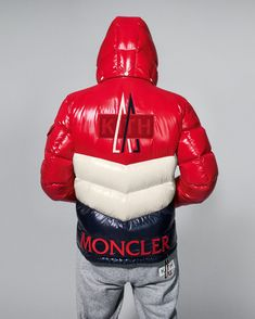 Moncler, the brand behind fashion's most popular down jacket, teams with NYC streetwear label Kith on a new capsule collection. Moncler, Champion Clothing, Winter Stil, Cool Jackets, Best Sneakers, Stylish Men, Winter Outfits, Winter Fashion, Branding