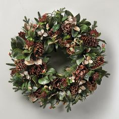 Iced Magnolia Christmas Wreath - Frontgate Christmas Decor - traditional - holiday decorations - FRONTGATE