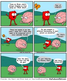Facades - What's keeping YOU from being yout true self? - Heart and Brain from The Awkward Yeti