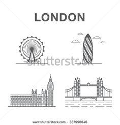 London Eye, London City, London Sketch, Big Ben London, World Famous, Tower Bridge, Art Education, Pencil, Sketches