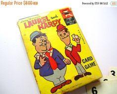 July Sale Vintage Game - Laurel and Hardy Game - Vintage Card Game - Vintage Cards by BohemianGypsyCaravan