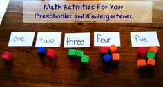 Math Activities for your Pre-Schooler or Kindergartener #homeschool #math #education