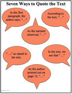 Seven ways to quote the text.