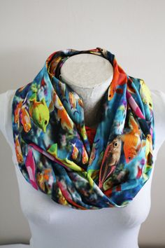 Aquarium Infinity Scarf Fish Scarf Goldfish Womens Gift Fall Wİnter Fashion Accessories by dreamexpress from dreamexpress on Etsy. Find it now at http://ift.tt/2eglHMf!