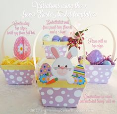 "easter crafts for adults | Please click the pink ""Free Easter Baskets Template"" button farther ..."