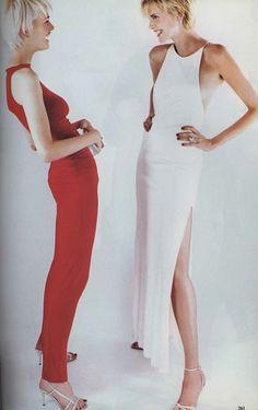 Vogue, November 1996.  left:  Calvin Klein.  right:  Ralph Lauren.