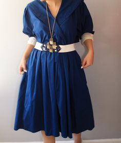A personal favorite from my Etsy shop https://www.etsy.com/listing/234398512/sale-salenavy-blue-summer-dress-cotton