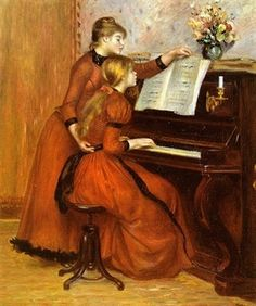 Renoir painting, Two Young Girls at the Piano