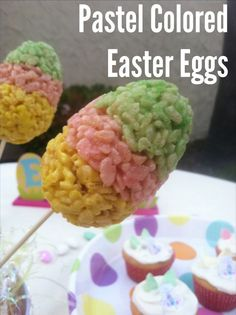 Pastel Colored Easter Eggs. Yummy sweet treats by Mama Maggie's Kitchen