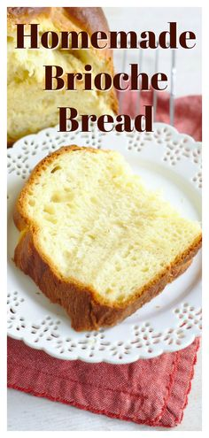 French Brioche Bread - A light and fluffy bread with a rich flavor from eggs and butter. This bread is easy to make and is great to use for everything from french toast to sandwiches. Brioche Recipe Bread Machine, Egg Bread Recipe For Bread Machine, Bread Recipe With Egg, Fluffy Bread Recipe, Egg And Bread Recipes, Butter Bread Recipe, Sandwich Bread Recipes, French Brioche