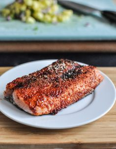 BBQ Spiced Salmon Recipe, I have not found a salmon recipe that everyone likes, maybe this is the one! BBQ Spiced Salmon Recipe, I have not found a salmon recipe that everyone likes, maybe this is the one! Grilling Recipes, Fish Recipes, Seafood Recipes, Cooking Recipes, Cooking Fish, Smoker Recipes, Cooking Salmon, Meat Recipes, Salmon Dishes